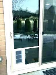 dog door in window pet for glass sliding insert slider doors install
