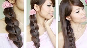 Long Braid Designs Unique 4 Strand Braid Braid In Braid Hairstyles For Medium Long Hair Tutorial
