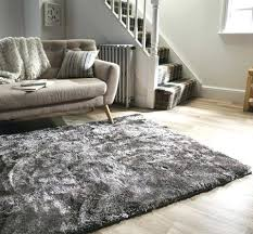 grey living room rug serenity silver and white light fur