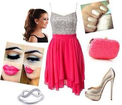 the dress and jewelry makeup shoes dresses outfits fashion