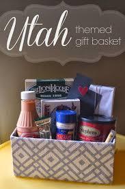 a little tipsy utah themed gift basket