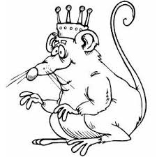 Small Picture Rat King With Crown Coloring Page