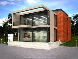 modern office exterior. Modern Office Development, Concrete And Glass, Concept. Exterior E