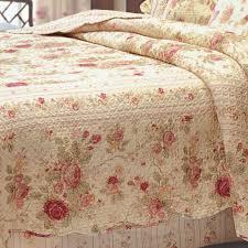 antique rose cotton fl quilt bedding set