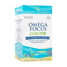 Nordic NaturalsNordic Naturals, <b>Omega Focus Junior</b>, 120 Mini Soft ...