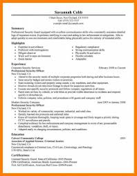 Law Enforcement Resume Cover Letter Security Guard Sample And An