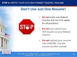 How To Write Federal Resume 100 steps to federal job 60