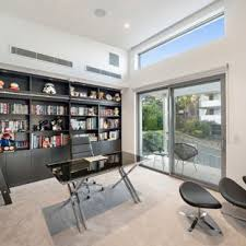 designing a home office. Design Ideas For A Contemporary Study Room In Brisbane With White Walls,  Carpet, Designing Home Office