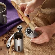 A burr grinder crushes the beans into a consistent particle size while a blade grinder randomly chops the beans as the blade whizzes. Stainless Steel Manual Coffee Grinder Adjustable Conical Burr Mill Overstock 30827950