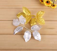 Silver Leaf Decoration Popular Silver Leaf Craft Buy Cheap Silver Leaf Craft Lots From