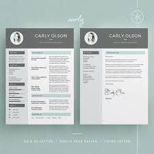 Indesign Creating A Modern Resume Carly Resume Cv Template Word Photoshop Indesign