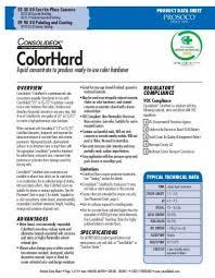 Prosoco Gemtone Color Chart Colorhard Prosoco Inc