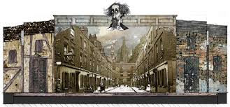 Image result for stage set A Christmas Carol