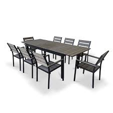 12 Seat Outdoor Dining Table Urban Furnishings 9 Piece Extendable Outdoor Dining Set Reviews