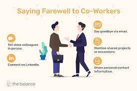 saying goodbye when you re leaving your job