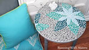 how to mosaic a table running with