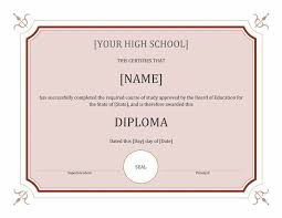 diploma word template 40 high school diploma certificate template high school diploma