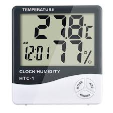 lcd digital thermometer hygrometer indoor electronic temperature humidity meter clock weather station household thermometers gt0043