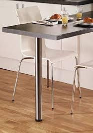 Gtv Bar Pieds Tableplan De Travail Bureau Chrome 710 Mm X 4