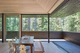 large sliding glass doors. Large Sliding Glass Doors Blur The Lines Between Outdoors And Interior C