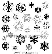 Drawings Of Snowflake Designs K0926174 Search Clip Art