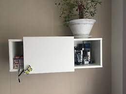 wall cabinet with sliding door white