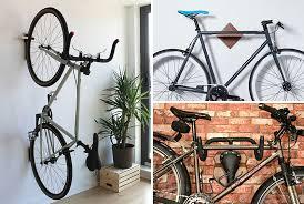 Wall bicycle mount Horizontal Put Your Bike On Display With These Wall Mounted Bike Racks Contemporist Put Your Bike On Display With These Wall Mounted Bike Racks