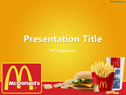 Powerpoint Templates Food Free Mcdonalds With Logo Ppt Template