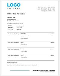 Agenda Of Meeting Meeting Agenda Templates Ms Word Word Excel Templates