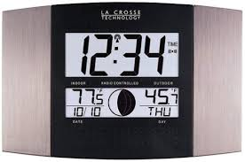 la crosse technology ws 8117u it al atomic wall clock with indoor