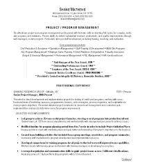 Sample Resume Management Program Manager Resume Examples Project Sample Resumes Management