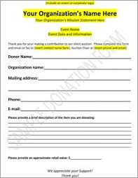 Sample Donation Form Download Our Sample Auction Donation Form That You Can Use