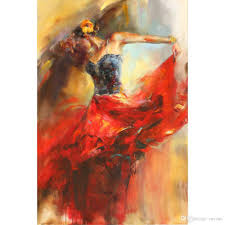 2018 flamenco dancer paintings dances in beauty spanish art hand painted woman oil painting from reeme 131 66 dhgate com