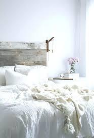 White Wooden Headboard Double White Wood Headboard Distressed ...