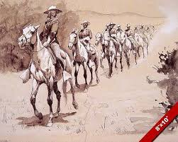 Us Army Cavalry Us Army Cavalry In The American West Desert Remington Art