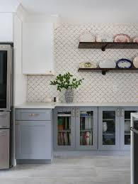 Grey kitchen cabinets, Kitchen interior