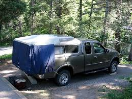 diy truck tent tailgate relaxing captures more