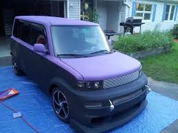 he chose purple and black tinted chalk paints and revamped his wife s car