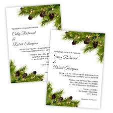 Pine Cones Christmas Wedding Or Holiday Party Invitation