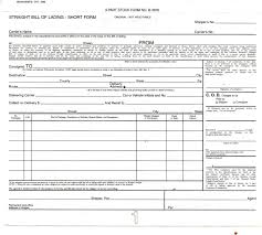 Bill Of Lading Form Template