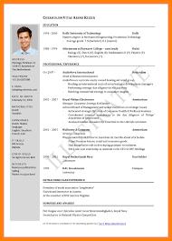 Sample Curriculum Vitae For Job Application Pdf New Certificate