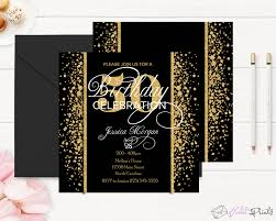 50th Birthday Invitations Templates Gold And Black 50th Birthday Invitation Template By