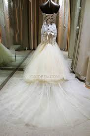 lace sweetheart court train ivory sheer trumpet mermaid wedding