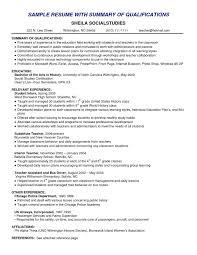 Writing A Resume Summary Lovely Teacher Assistant Resume Sample