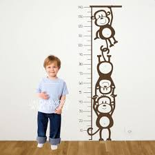 Us 14 98 Monkey Height Chart Wall Decal Childrens Room Or Baby Nursery Vinyl Sticker Vinyl Wall Art Decal 50 140cm Free Shipping In Wall Stickers