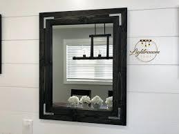wood frame mirror for bathroom black mirror wood framed mirror rustic wood mirror bathroom white