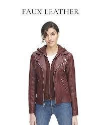 women s faux leather jackets