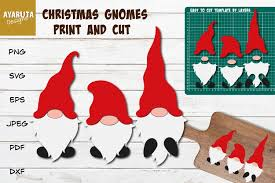 This is an instant digital download meaning there is no physical item that will be shipped to you. Christmas Gnomes Svg Print And Cut Gnomes In Santa Costumes 960143 Cut Files Design Bundles