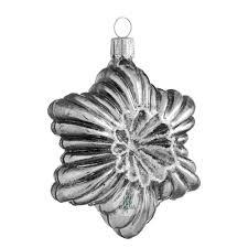 Reliefstern Silber Antik Mit Glimmer