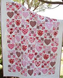 350 best Heart Quilts images on Pinterest   Heart quilts, Pointe ... & Fairy Hearts quilt pattern at Kate Conklin Designs. Nine patch and hearts.  ----Alternate any hear pattern with nine-patch blocks as seen here- CMS Adamdwight.com